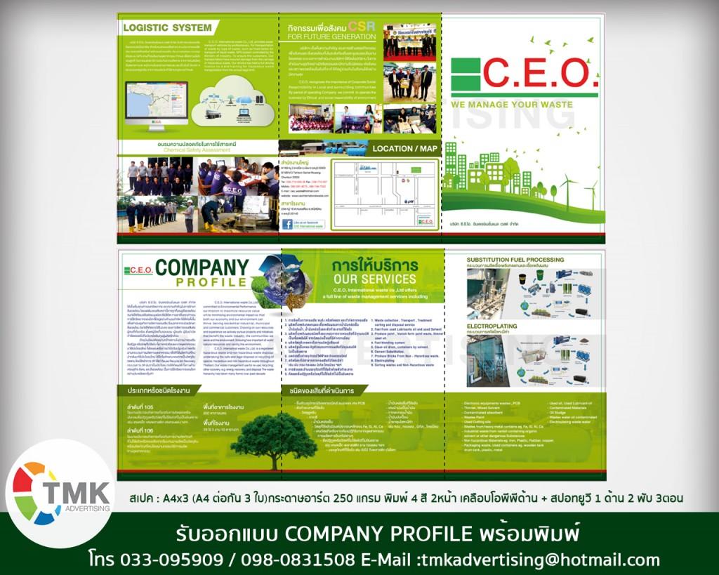 รับทำ COMPANY PROFILE รับบริการจัดทำ Company Profile บริษัท ห้างร้าน ชลบุรี พัทยา ระยอง